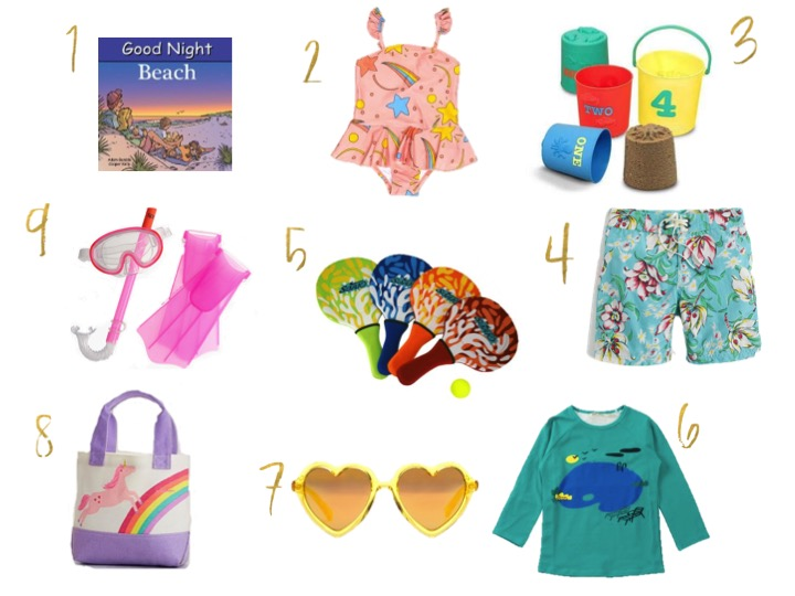 mini rodini, melissa and doug, jcrew, snorkel, bobo choses, sons and daughters, sunglasses, beach