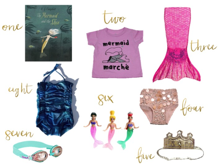 mermaid tales, ice cream castles collection tee,  TUTU DU MONDE STOLEN JEWELS SHORTS, Bling 2o Mermaid Swim Goggles, woven play glimmer swimsuit, woven play gold couronne, Fin Fun Toddler Mermaid Swimming Tail,