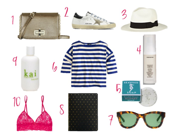 diane von furstenberg bellini metallic lizard effect leather shoulder bag, golden goose sneakers, kai lotion, striped crew shirt, beautycounter skin care oils radiance firming complex, toms women chelsea blonde tortoise zeiss polarized sunglasses, hanky pinky pink bra, sugar paper perfect dot black notebook
