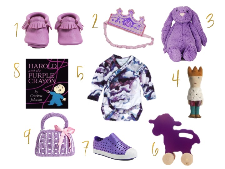Celebrate Prince, purple rain, jelly cat bashful bunny, freshly picked salt water taffy, native shoes purple, harold and the purple crayon,woven play couronne orchid, mini rodini clouds, manny and simon push toy lamb, maileg prince rattle,estella purse rattle