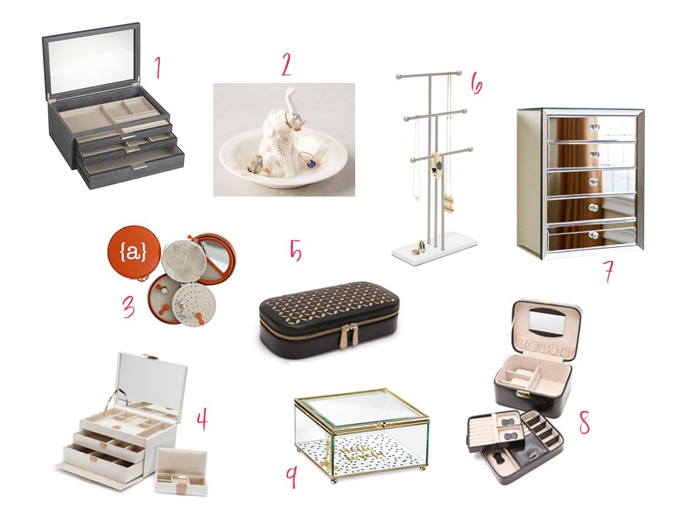 jewelry boxes and storage