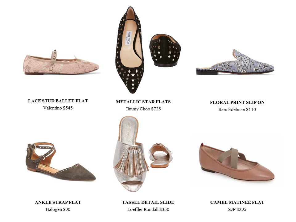 FLATS FOR SPRING SHOES