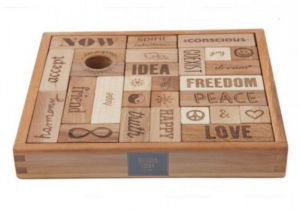 peace and love blocks