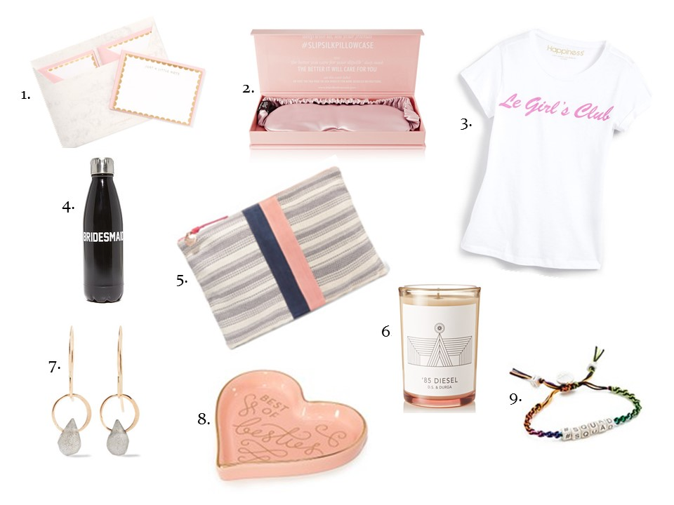 bridesmaids gifts for her