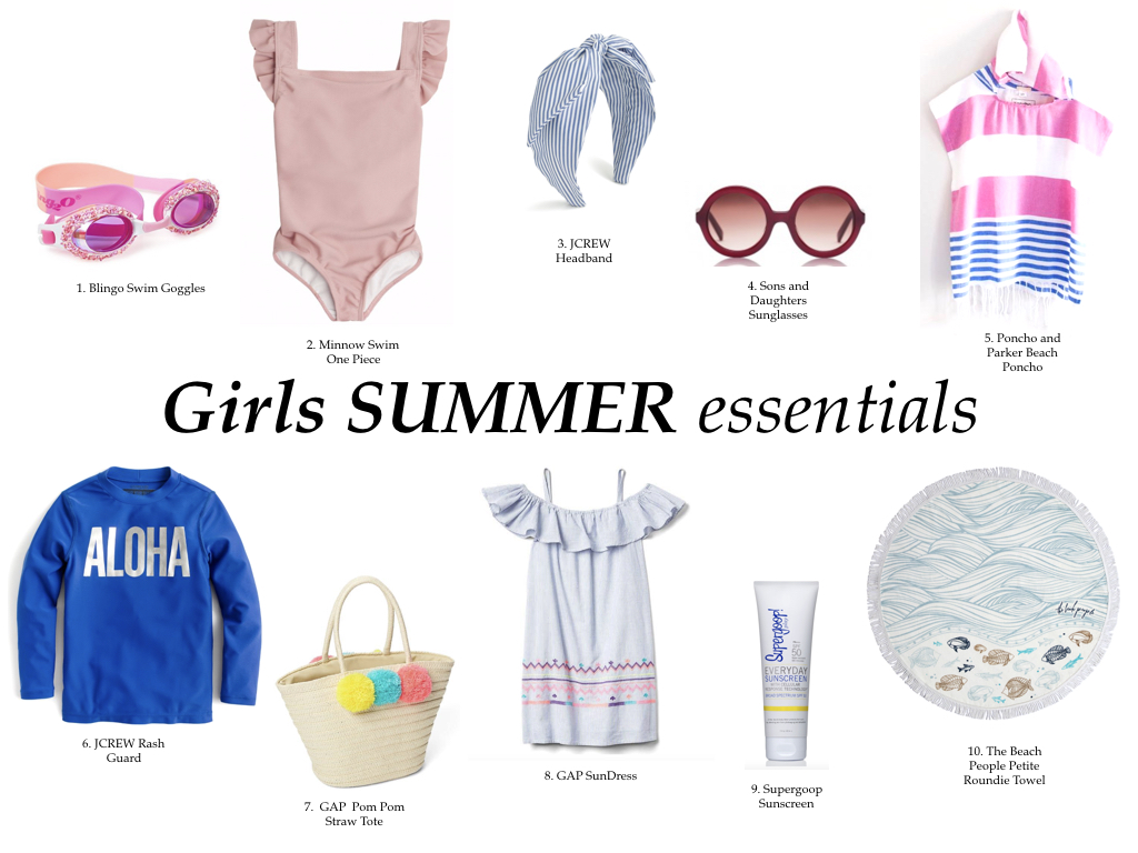 Girls summer essentials