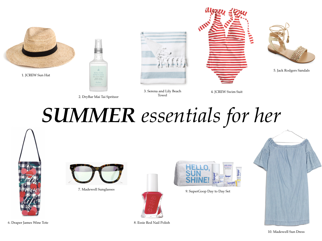 SUMMER ESSENTIALS FOR HER