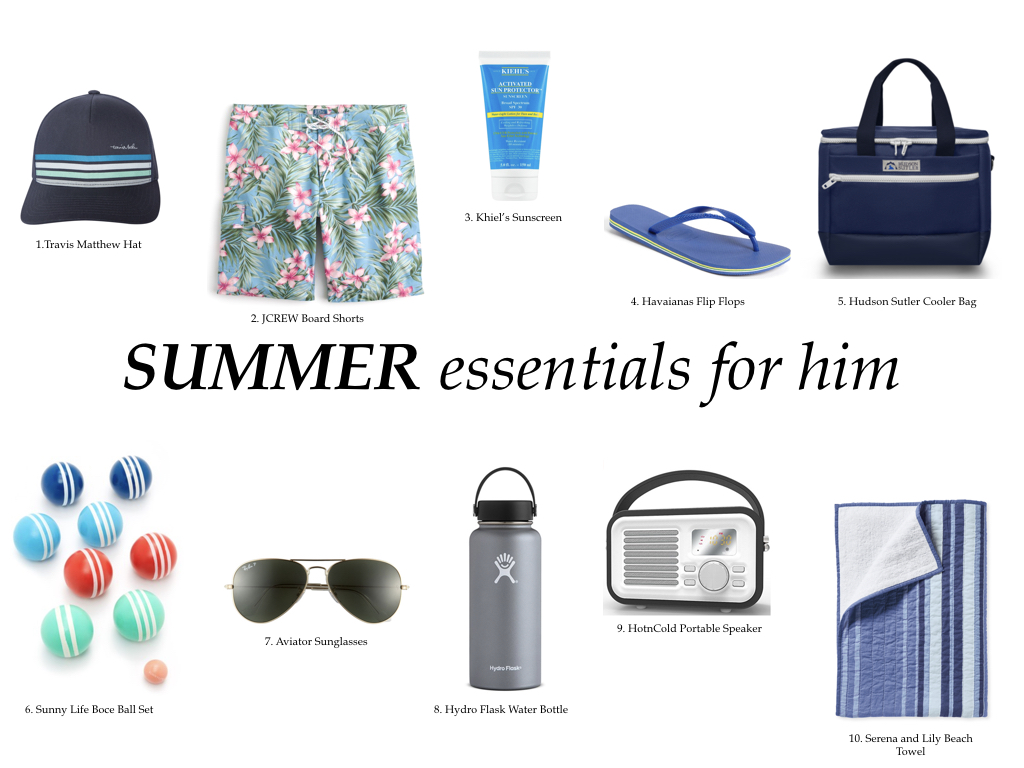 summer essentials for him