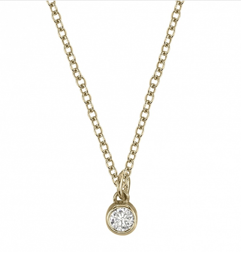 OLIVE DIAMOND CHARM NECKLACE