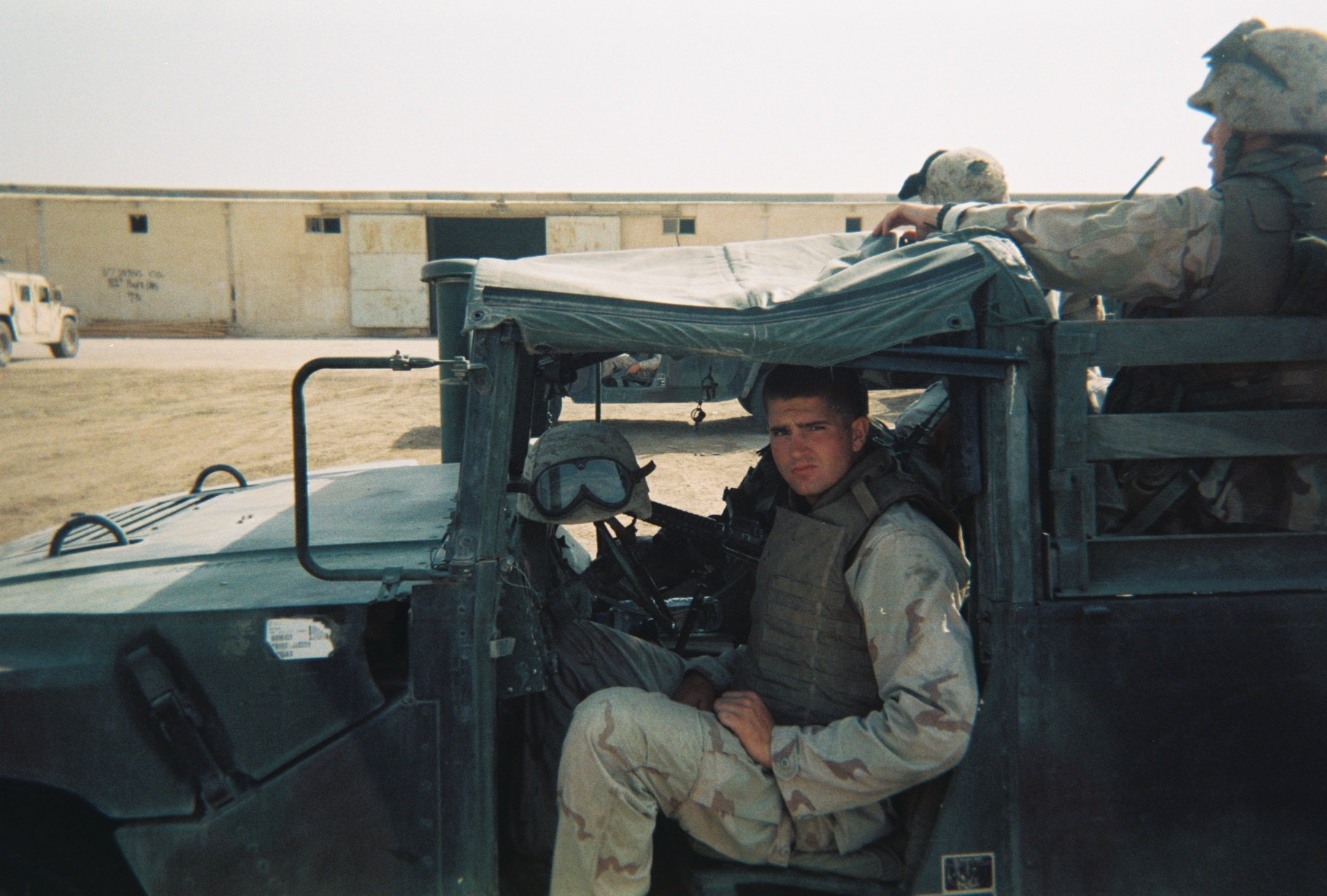 Tyson at the United States Marine Corps base in Karbala