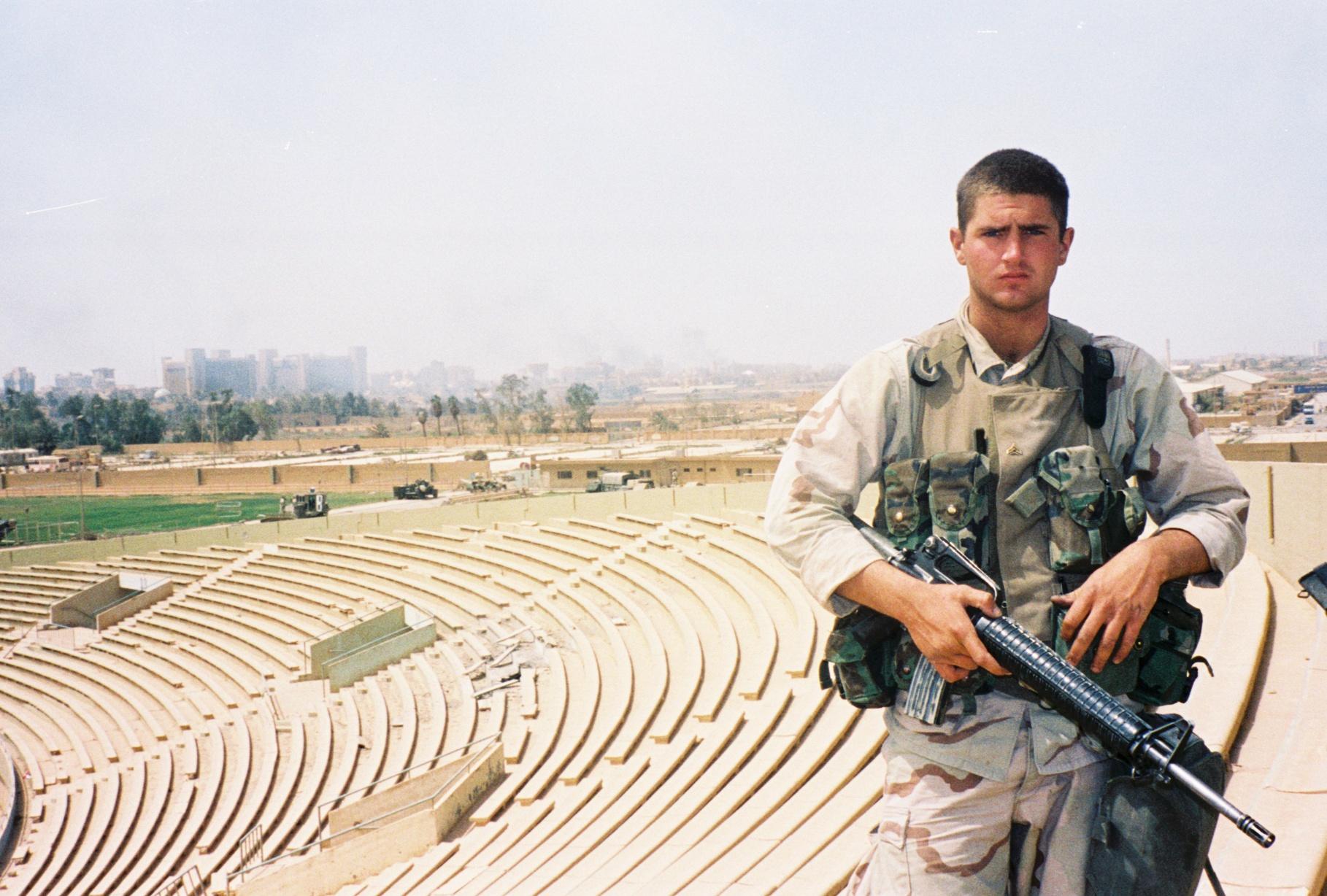 April 2003: Tyson in Baghdad