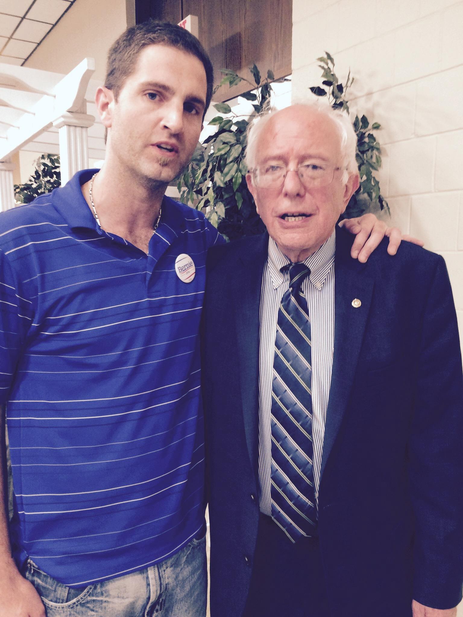 Tyson and Bernie Sanders in Cedar Rapids, IA