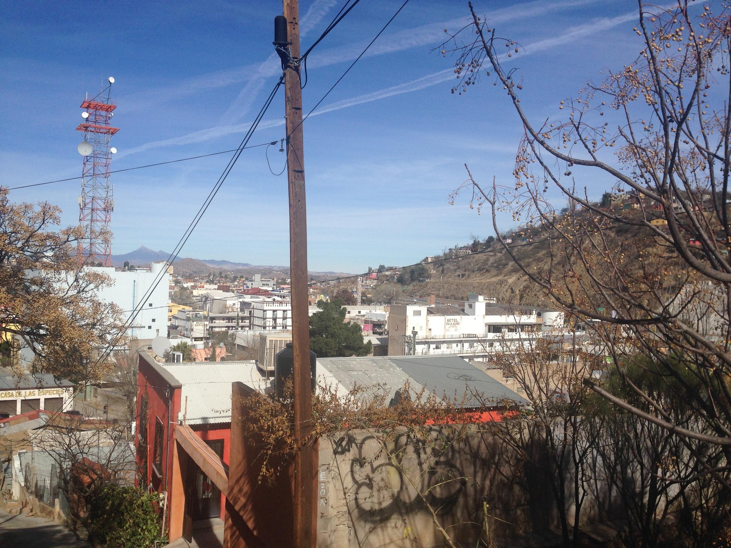 A view of Nogales from Gloria de la Rosa's neighborhood