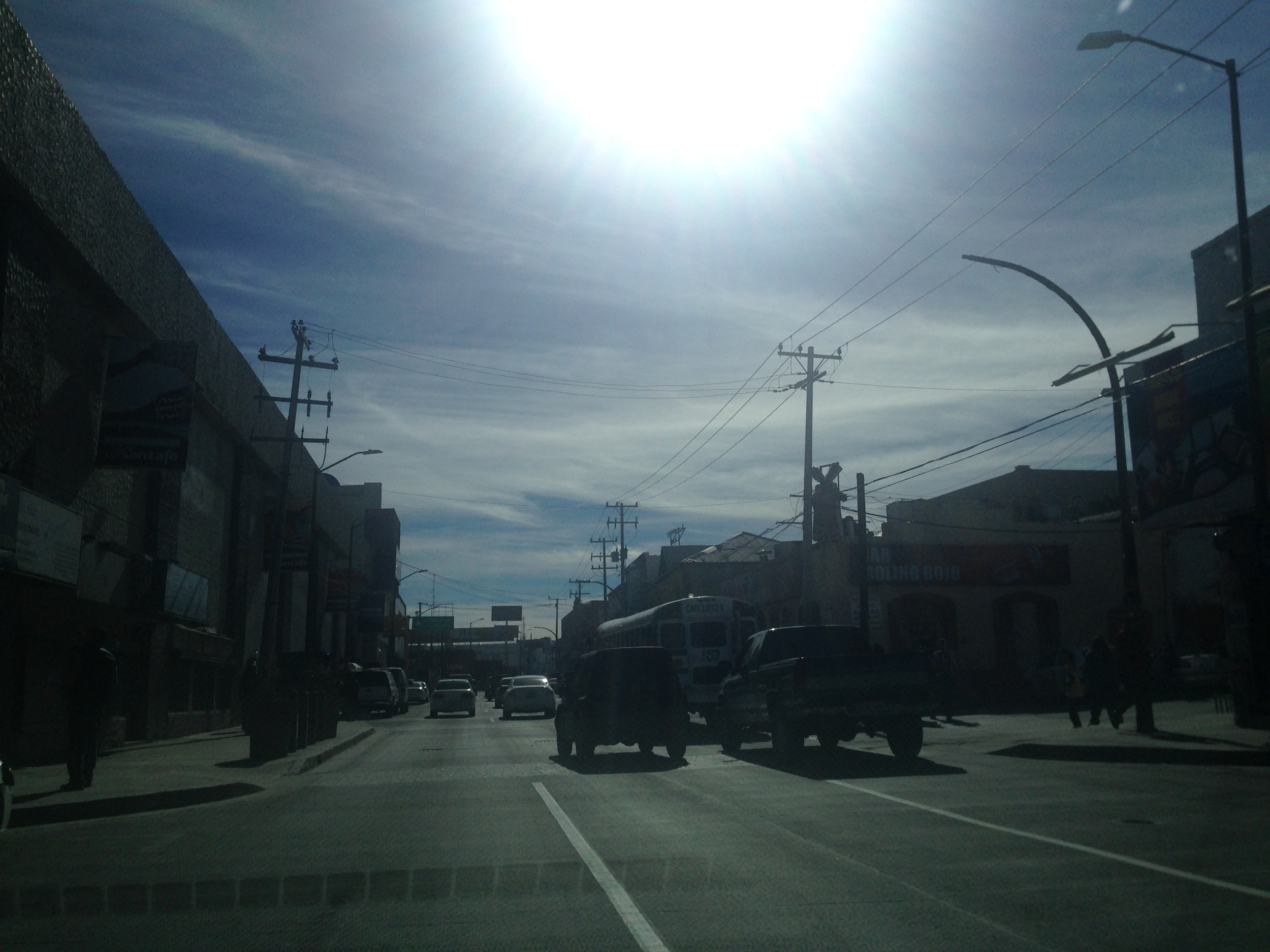 Driving through Nogales, Mexico