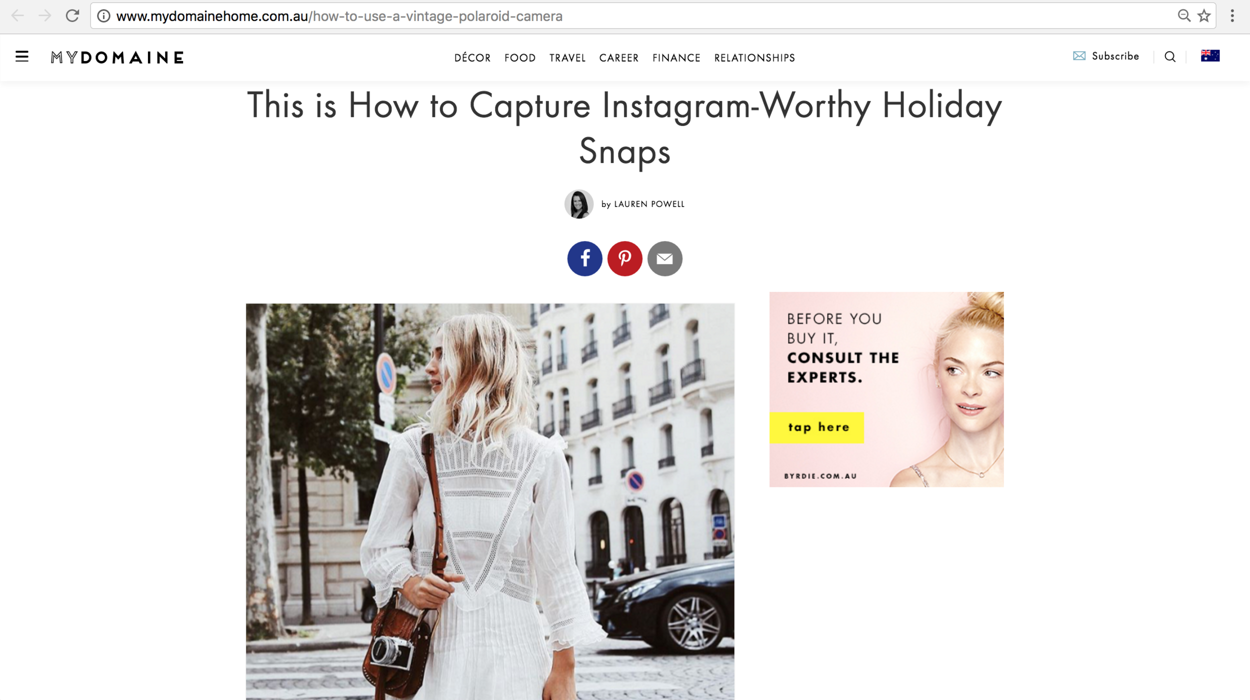 MyDomaine-How To Take The Perfect Snap