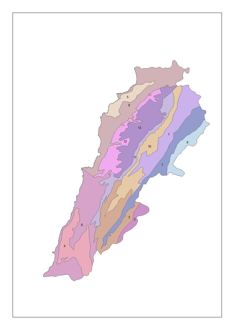 Figure 3 - Regions of provenances in Lebanon