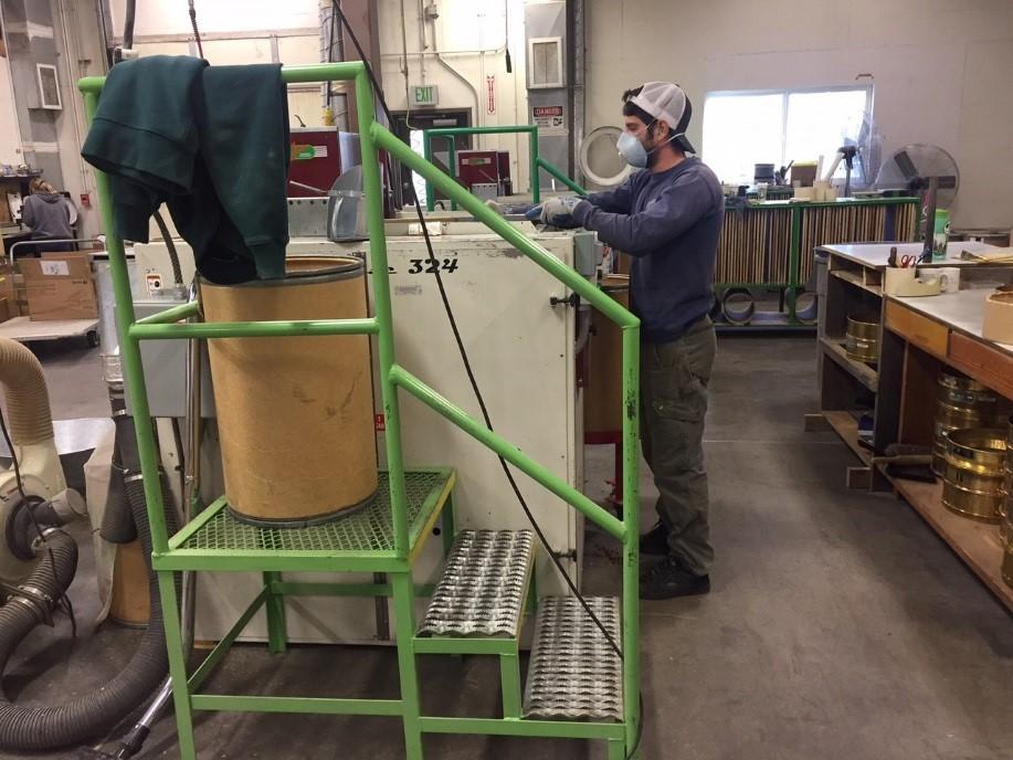 Ryan Brown finishing Achillea millefolium seed on the eclipsemachine.