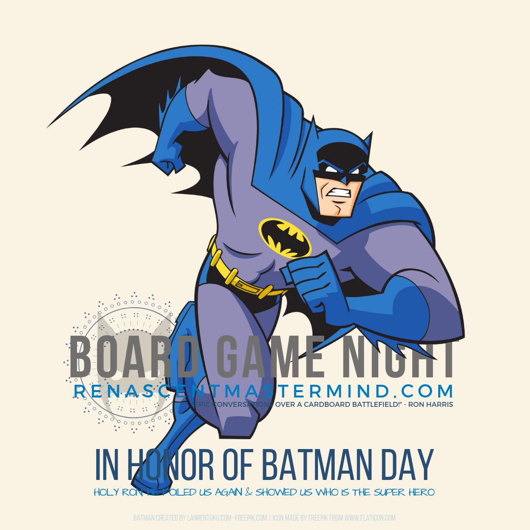 Renascent Mastermind Board Game Night - Batman Day