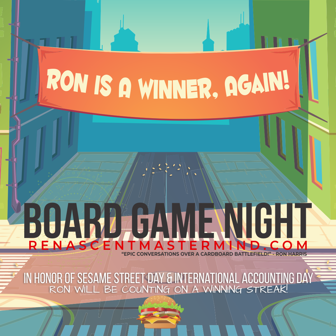 Renascent Mastermind Board Game Night - Sesame Street Day