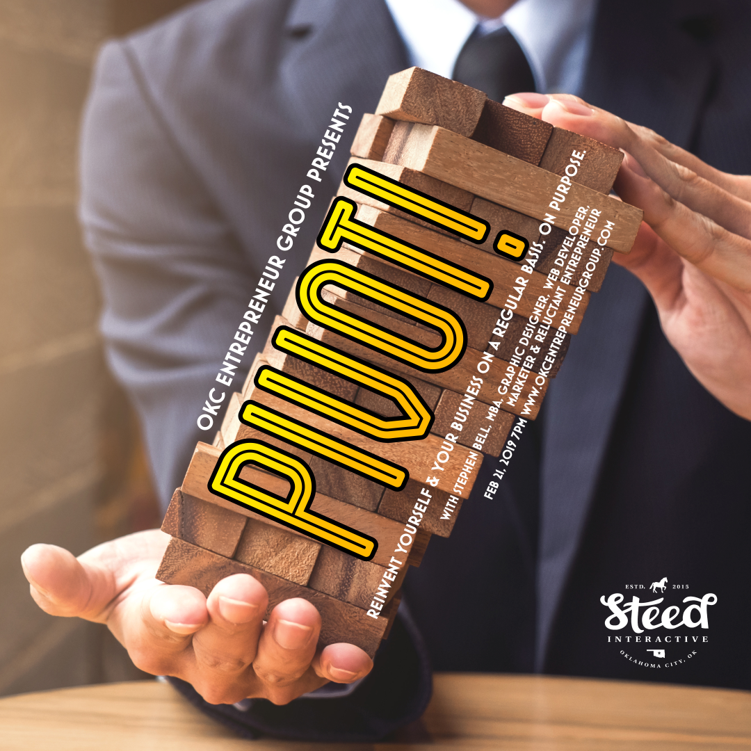 Copy of Pivot! Reinvent Yourself and Your business on a regular basis. On purpose.