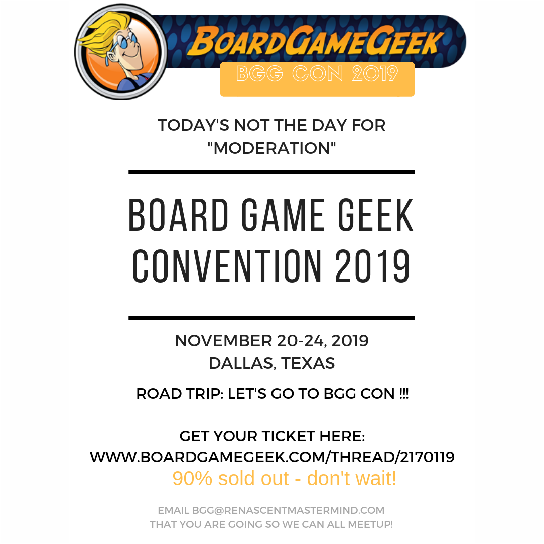 Board Game Geek Convention 2019 Road Trip