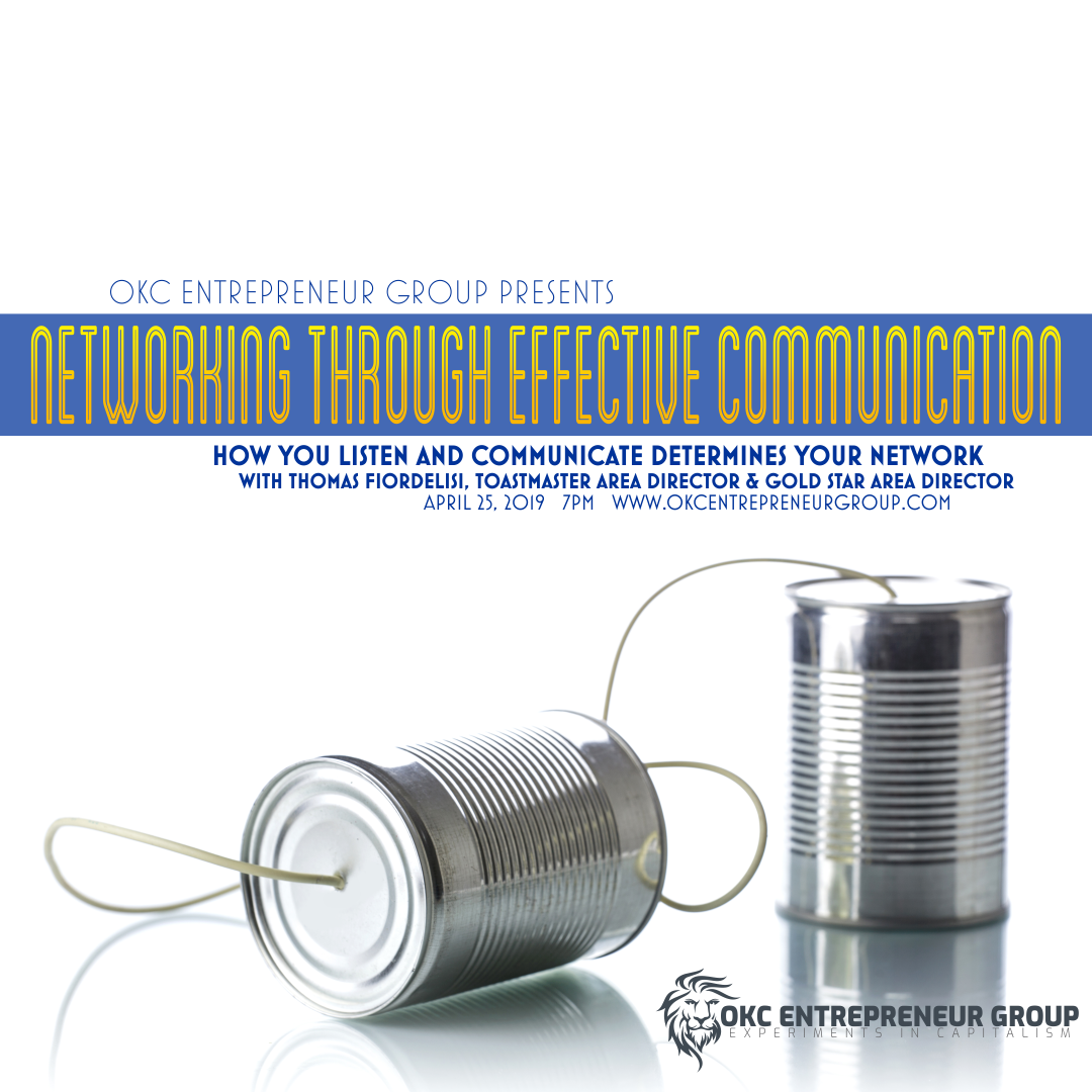Copy of Networking Through Effective Communication - How You Listen & Communicate Determines Your Network - WIth Thomas R. Fiordelisi