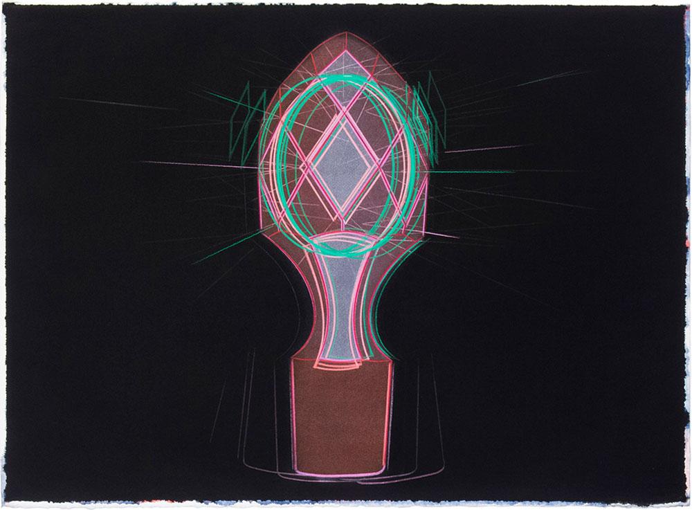 Dios lo ve 47, 2009. Watercolor and color pencil / paper. 56 x 76 cm
