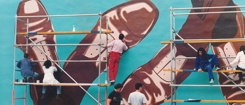 Aquiles, Mural efimero, 1993.