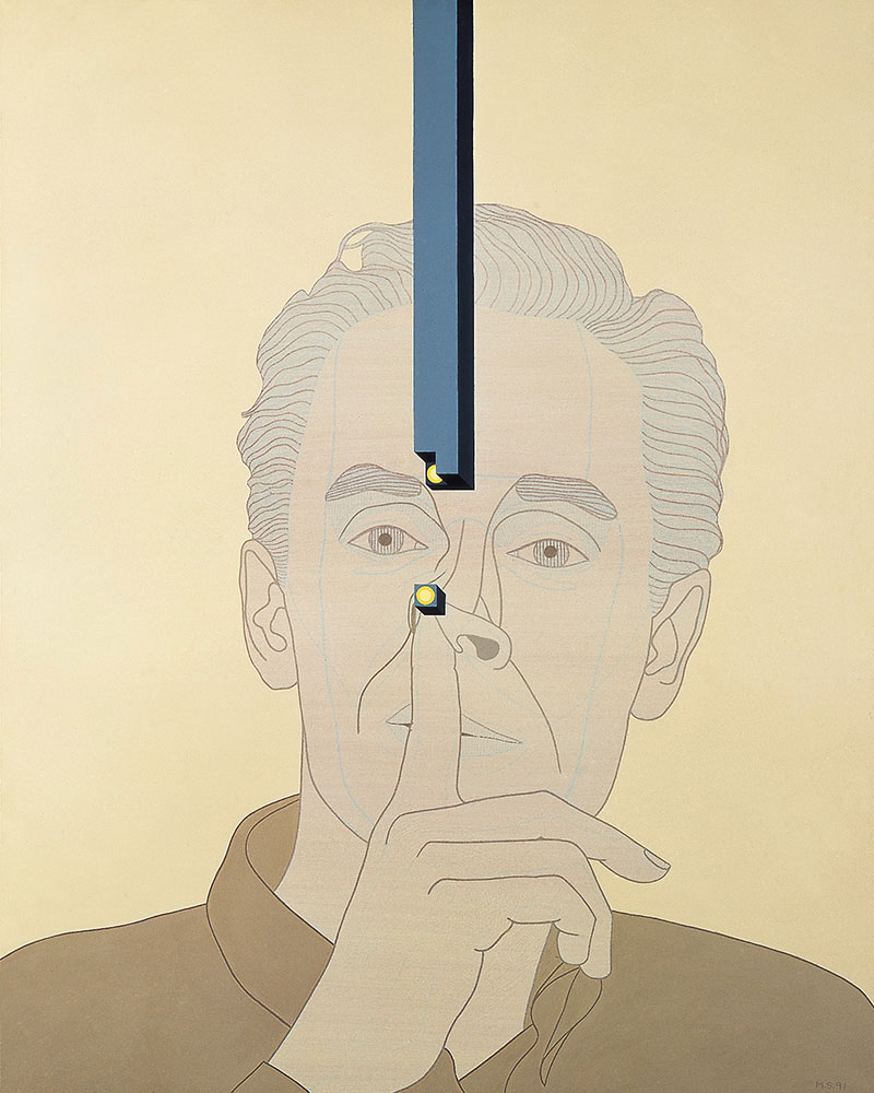 Biografía no autorizada 4, 1991. Acrylic / canvas. 100 x 81 cm