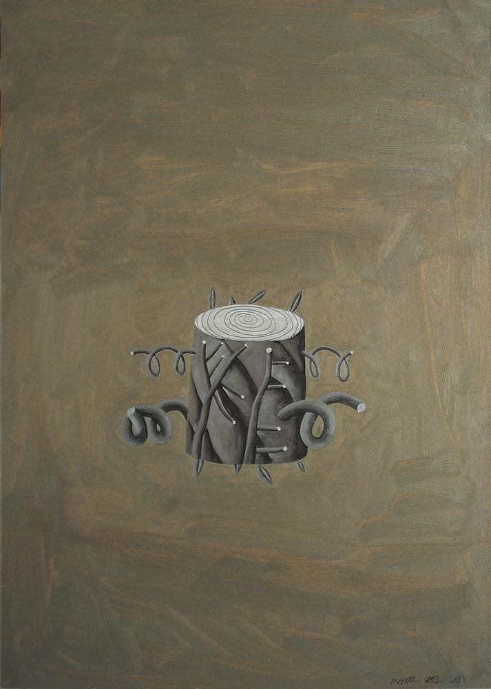 Arbol, 1987. Oil / paper. 70 x 50 cm