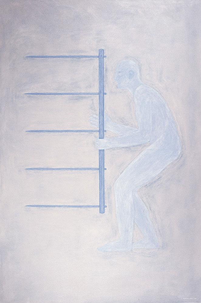 Autorretrato, 1984. Oil / canvas. 195 x 130 cm
