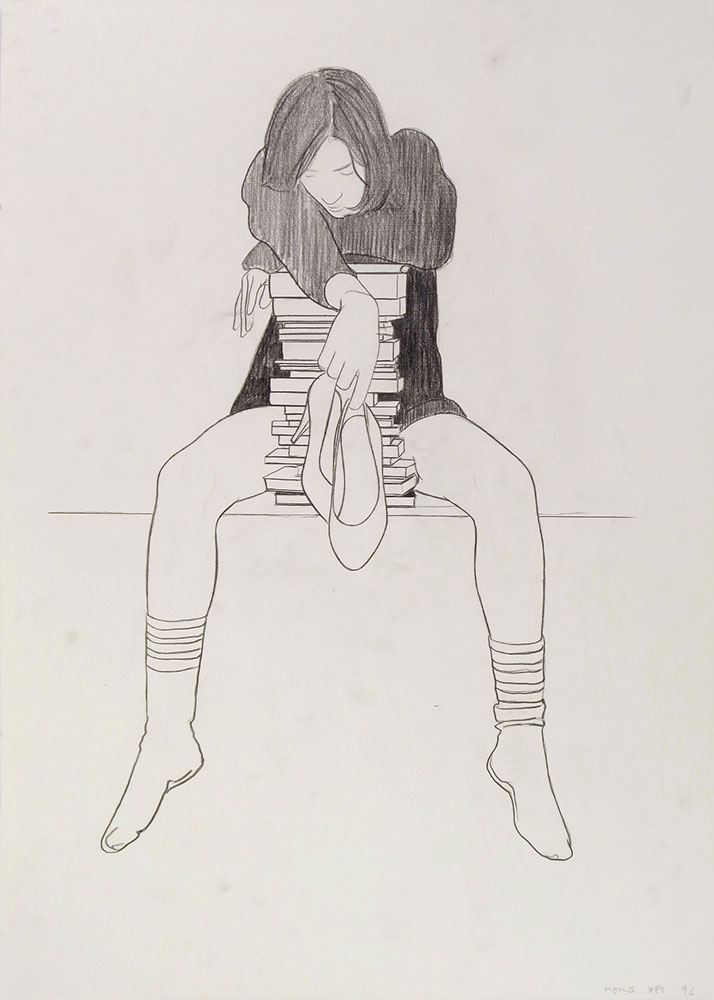 1998. Graphite/paper, 75 x 56 cm