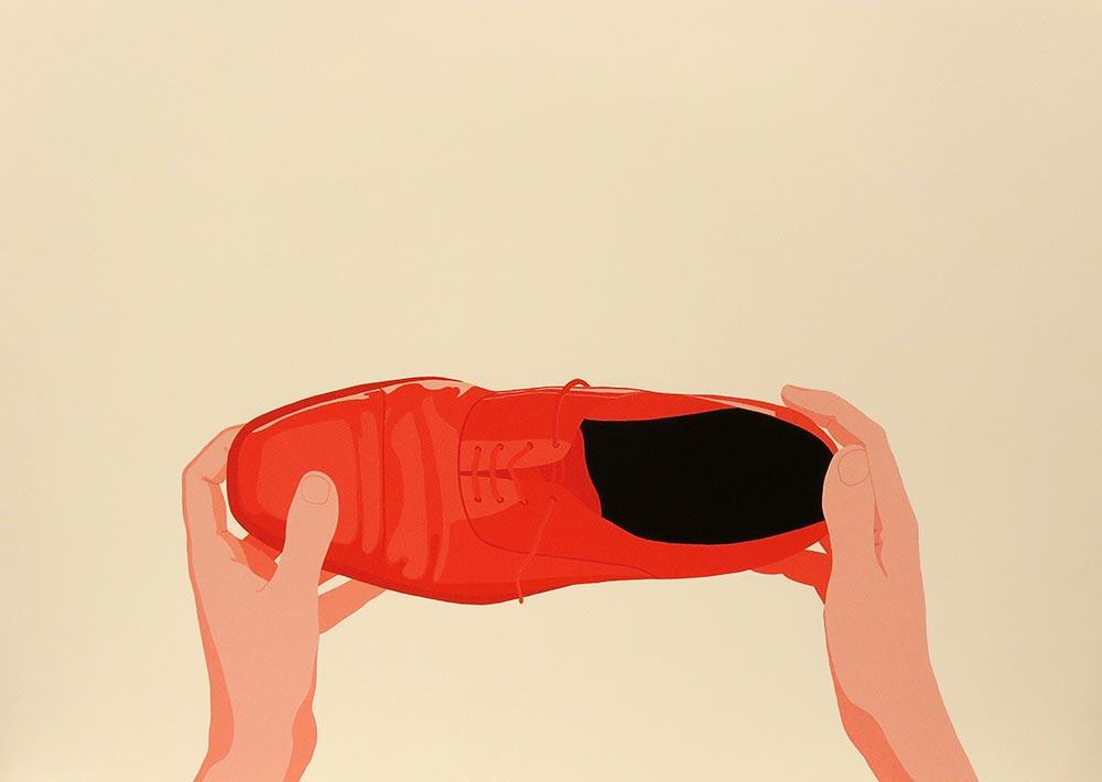 Aquiles 1993. Silkscreen / paper, 71,3 x 100,8 cm
