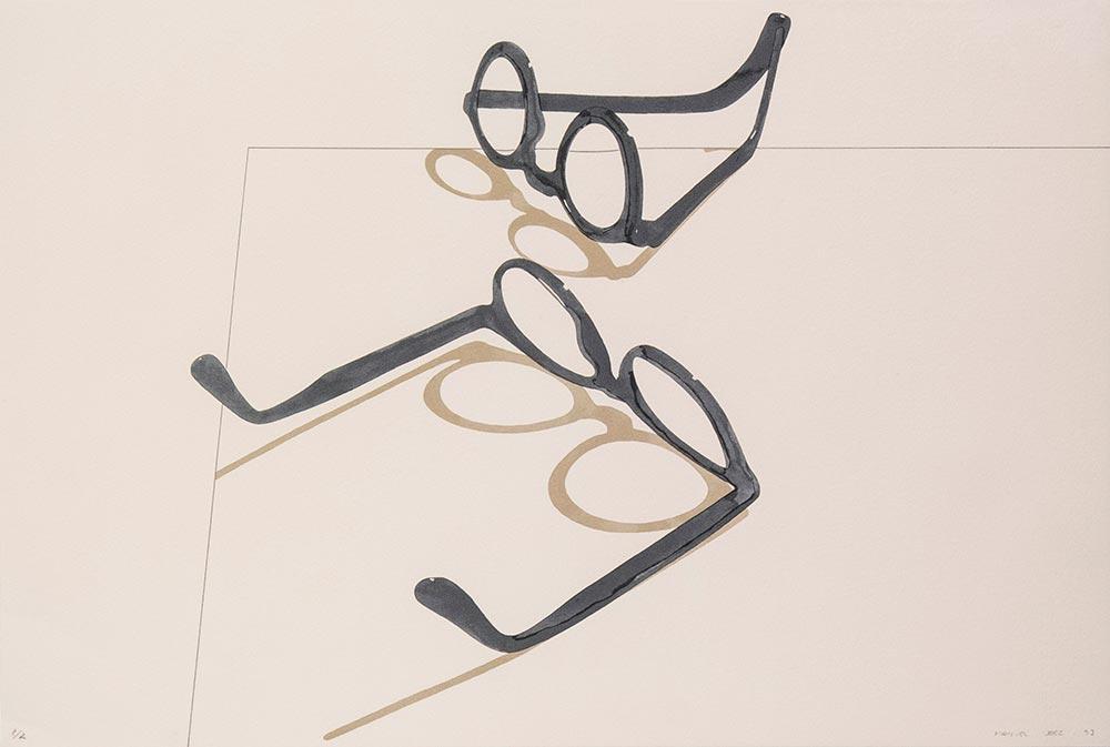 Dioptrias 1992. Silkscreen /paper, 37 x 55 cm