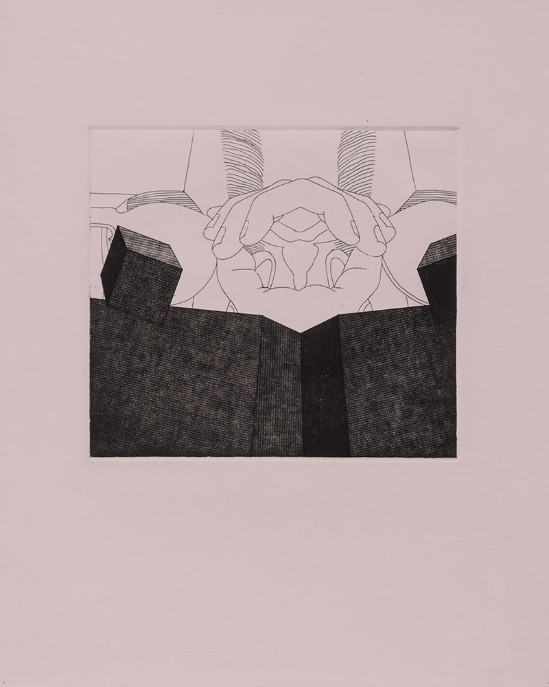 Biografía no autorizada 1991. Etching /paper,41 x 32,5 cm