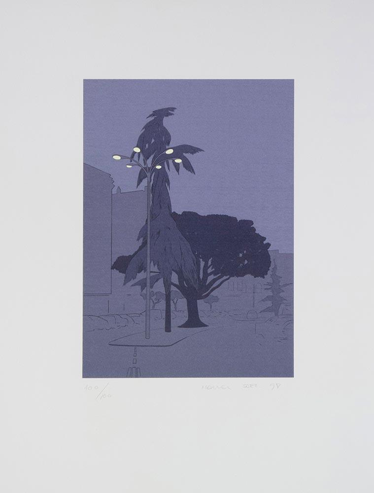 Nocturno 1998. Silkscreen /paper, 58 x 44 cm