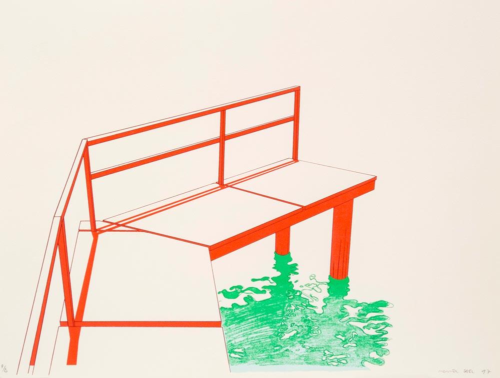 Latitud 19 1997. Silkscreen /paper, 51 x 67 cm