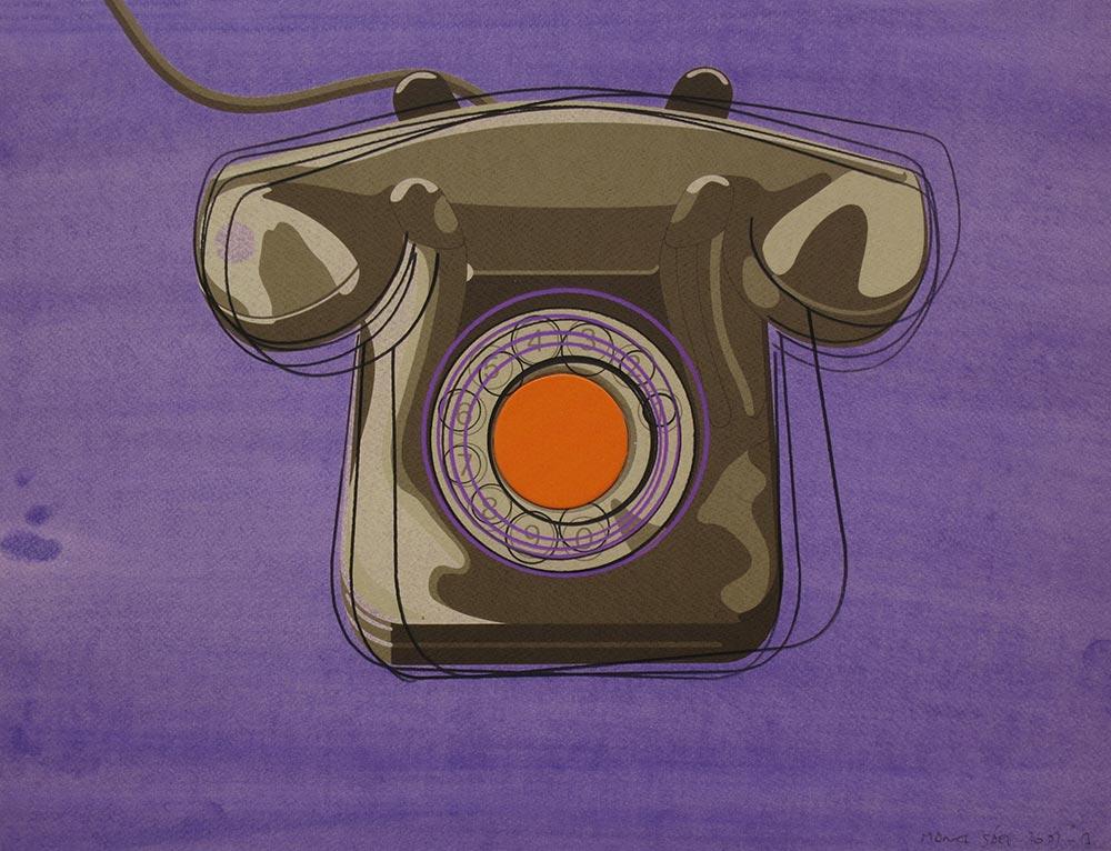 007 2009. Silkscreen, watercolor and colored pencil /paper 39,8 x 51,3 cm