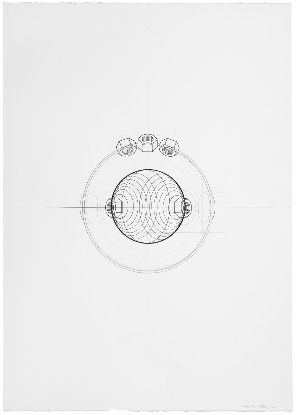 Orsini ha vuelto (4), 2014. Grafito / papel. 70 x 50 cm