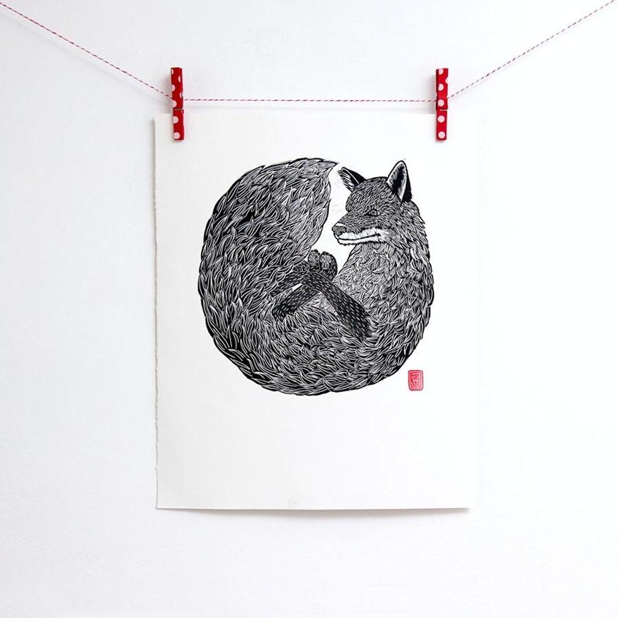 Fox Print by Jeremy Wills for INKONK