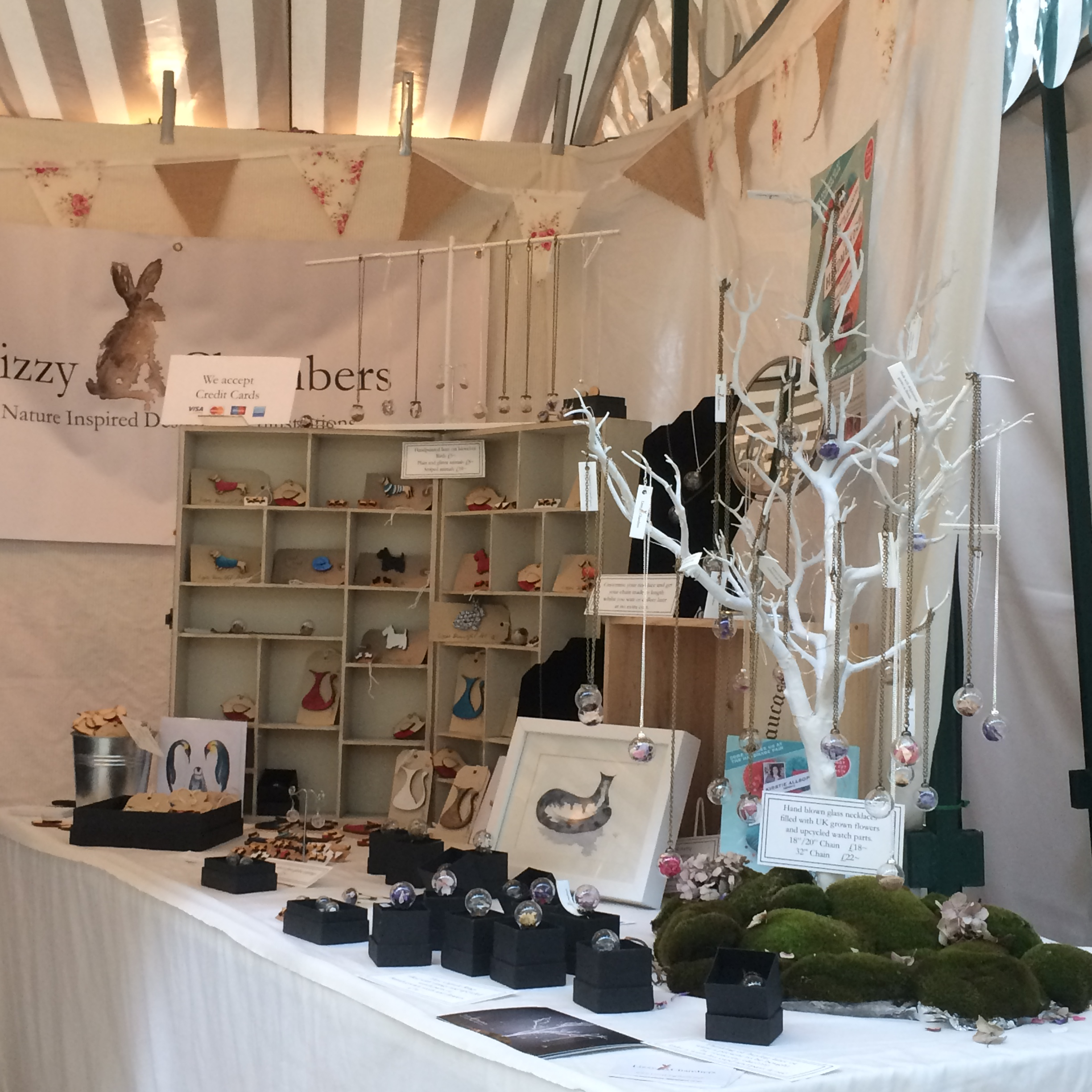 lizzy chambers stall at MK Handmade and Vintage