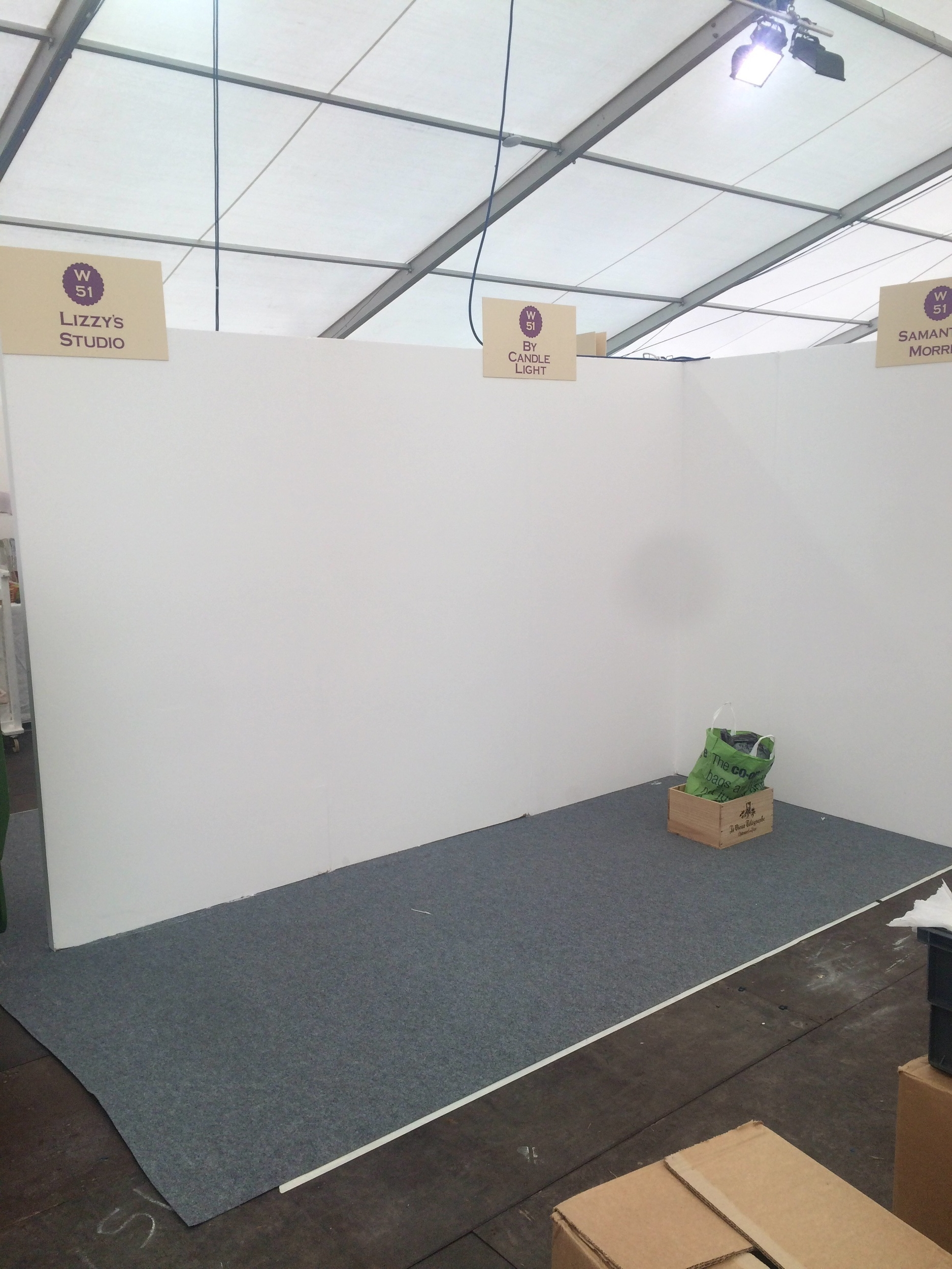 Empty stand at the Handmade Fair