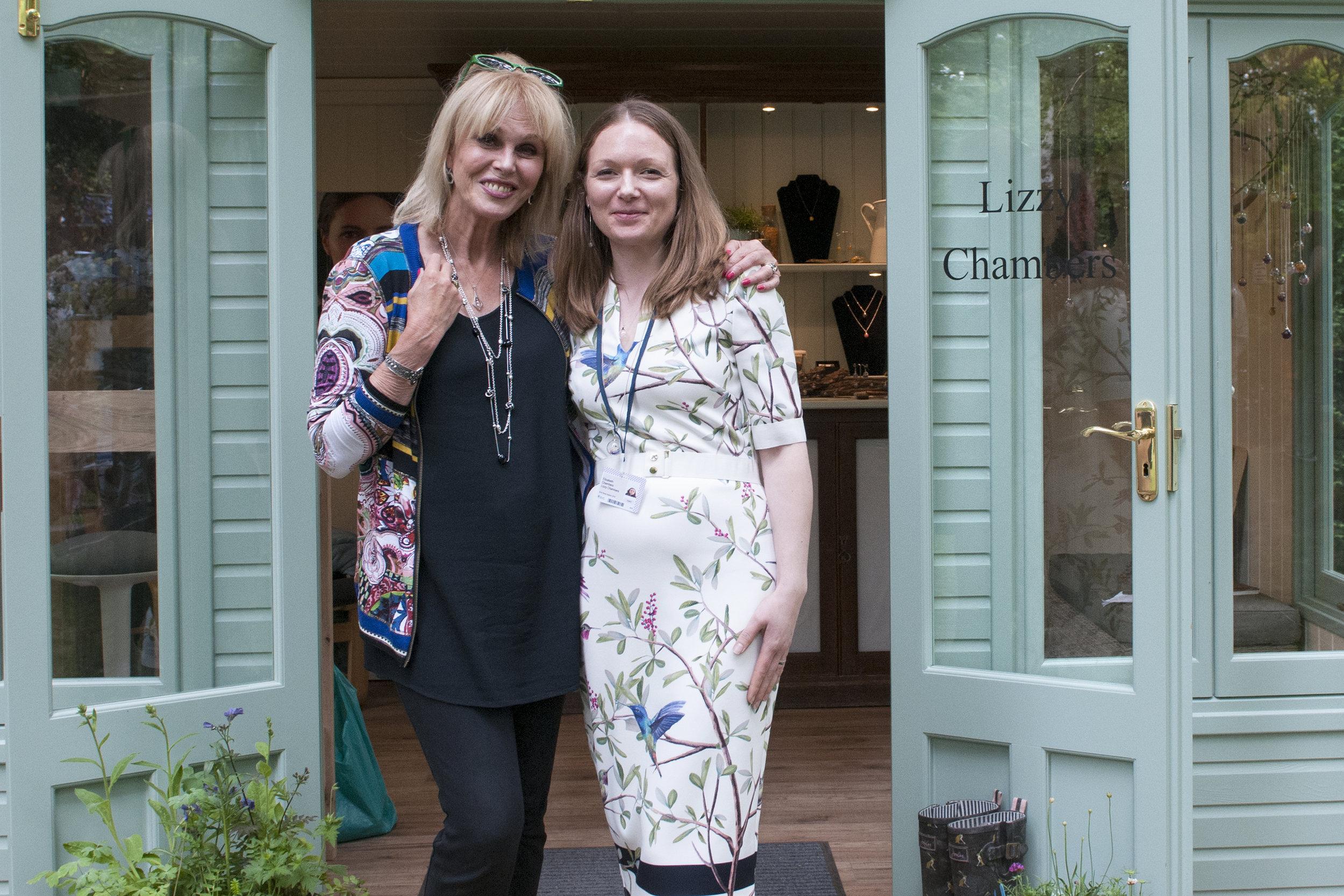 Lizzy Chambers with Joanna Lumley.jpg