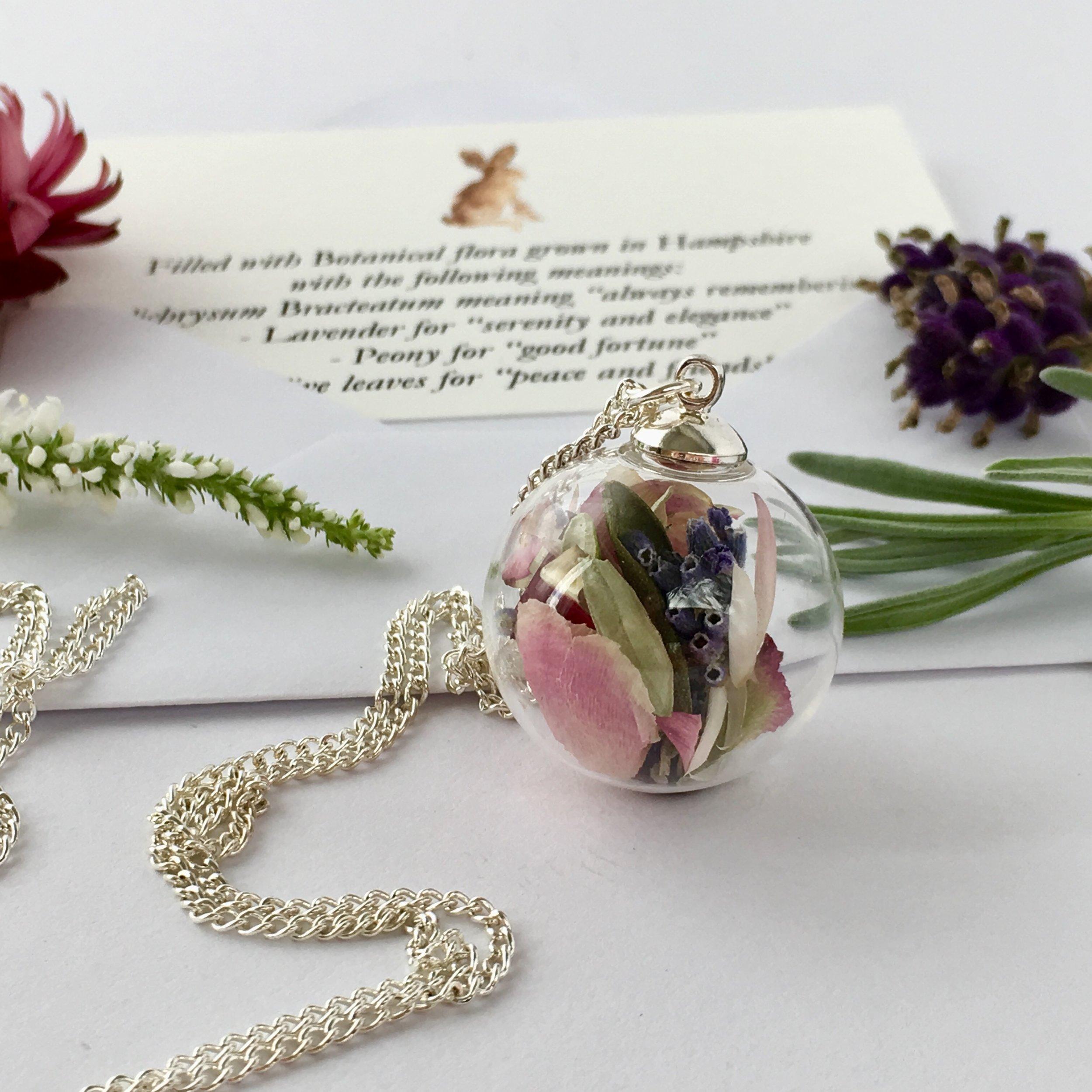 Bespoke flower necklace#