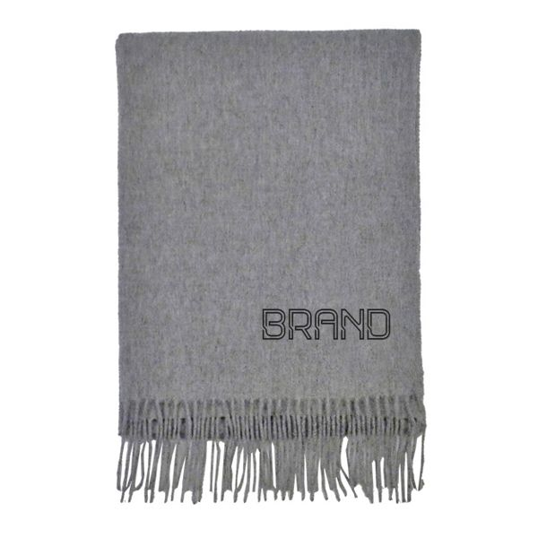 WWS-6800-B  Grey scarf with brand imprint.jpg