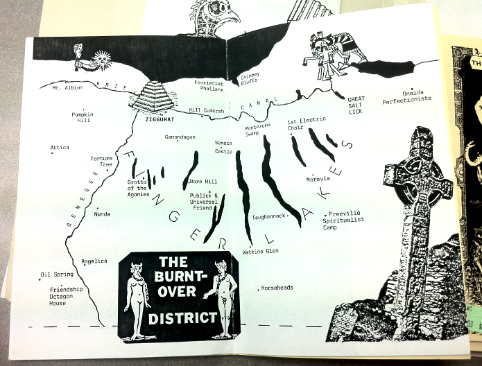 Thom Metzger's map of upstate New York.  Moorish Science Monitor  Vol. 8, No. 1, 1994