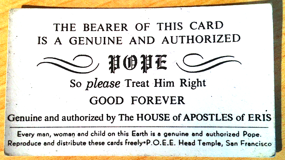 The Pope Card