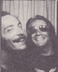 Fig.4: Irsay (right) joined the WBAI staff in the mid-1970s after returning from his travels in the East. He brought his experiences abroad to bear show,  Primary Sources , which delved into obscure ancient texts.