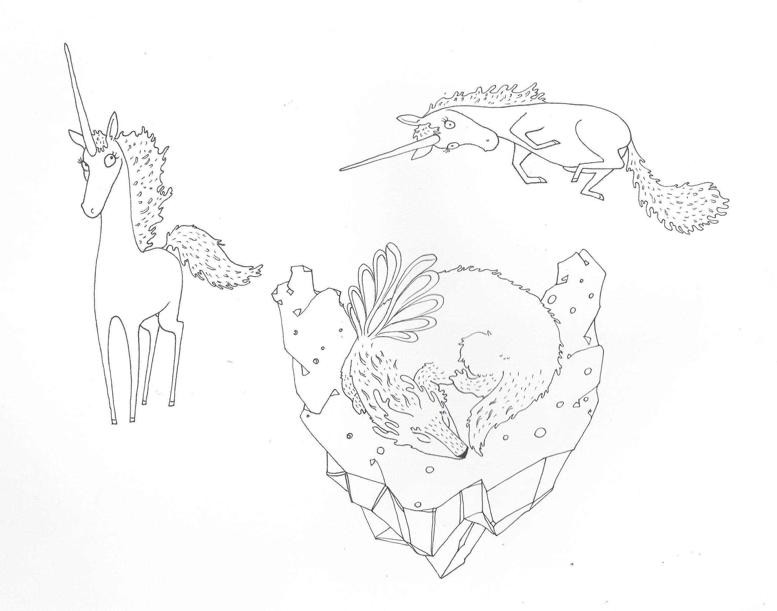 Unicornios y Dragón.JPG