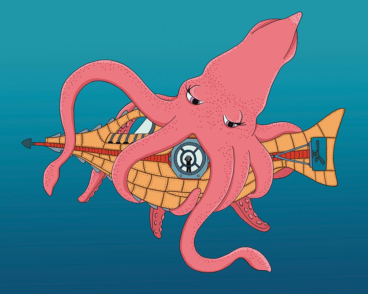 Giant squid in love