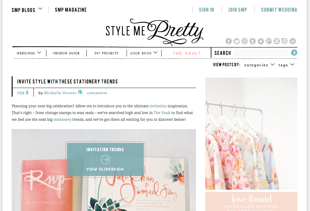 Style Me Pretty_Wedding Website